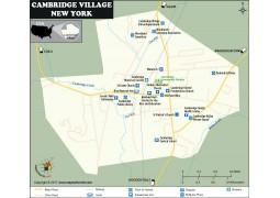 Cambridge Village Map, New York - Digital File