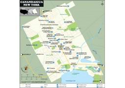Canandaigua Map, New York - Digital File