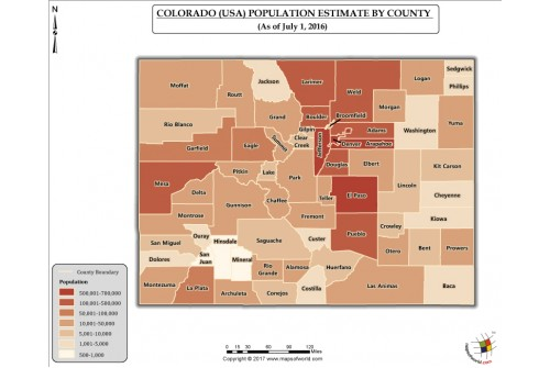 Colorado Population Estimate By County 2016 Map