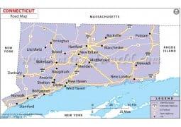 Connecticut Road Map - Digital File