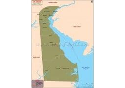 Delaware Airports Map - Digital File