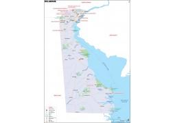 Delaware Map - Digital File