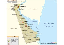 Delaware Museums Map