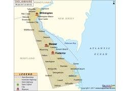 Delaware Museums Map - Digital File