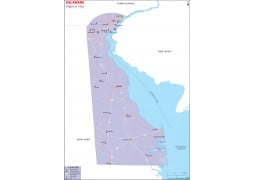 Delaware Road Map - Digital File
