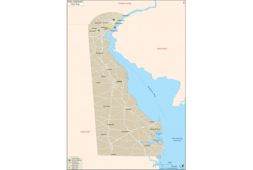 Delaware State Map
