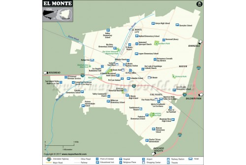 El Monte City Map, California