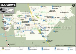 Elk Grove City Map, California