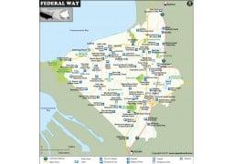 Federal Way Map, Washington