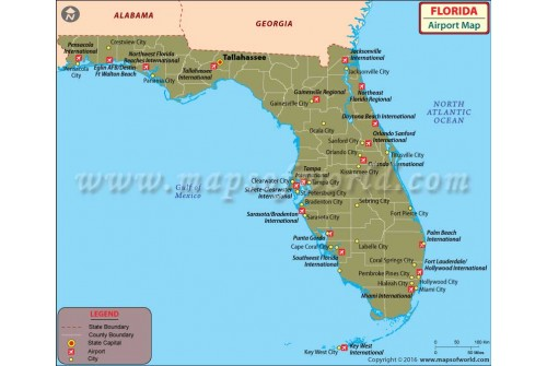 Florida Airport Map