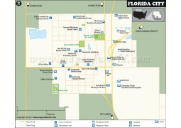 Florida City Map, Florida