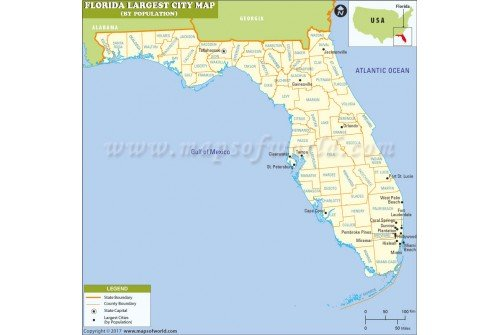 Largest Cities in Florida by Population