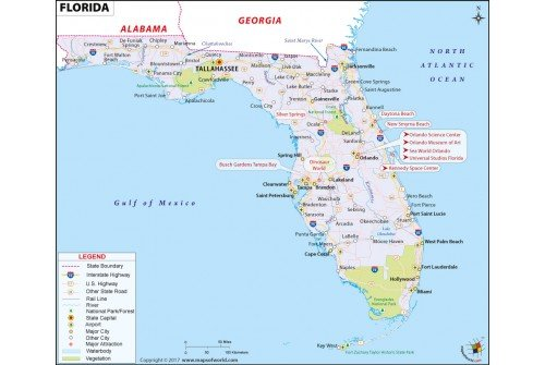 Buy Map Of Florida In Raster And Vector File Format