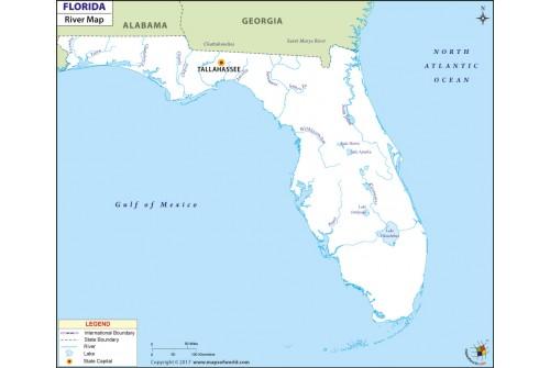 Florida Rivers Map