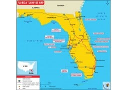 Florida Turnpike Map - Digital File
