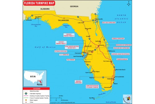 Florida Turnpike Map