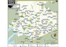 Frisco Map, Texas
