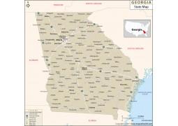 Georgia State Map  - Digital File