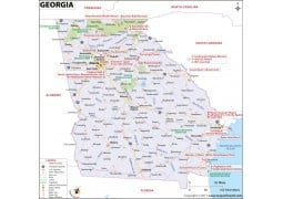 Georgia Map (USA) - Digital File