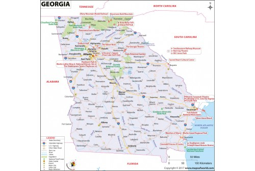 Reference Map of Georgia