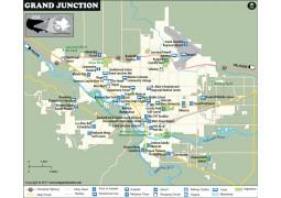 Grand Junction City Map, Colorado