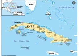 Guantanamo Location Map (Cuba)