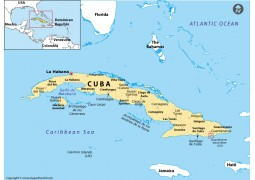 Guantanamo Location Map (Cuba) - Digital File