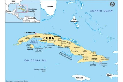 Guantanamo Location Map (Cuba)