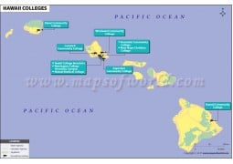 Map of Hawaii Colleges - Digital File