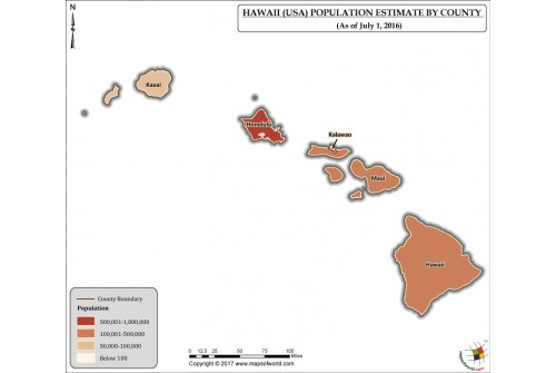 Hawaii Population Estimate By County 2016 Map