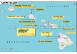Hawaii Map of Resorts - Digital File
