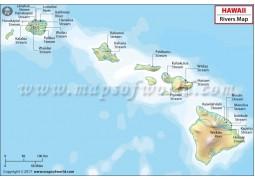 Hawaii Rivers Map - Digital File