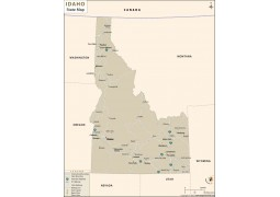 Idaho State Map - Digital File