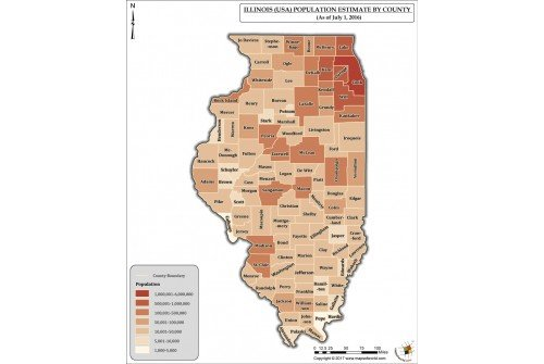 Illinois Population Estimate By County 2016 Map