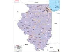 Printed Road Map of Illinois