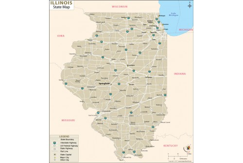 Reference Map of Illinois