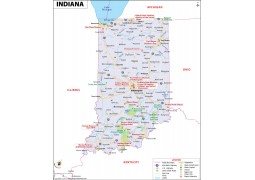 Reference Map of Indiana - Digital File