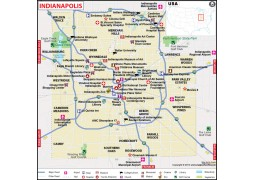 Indianapolis City Map - Digital File