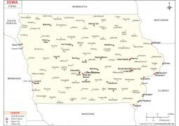 Iowa Cities Map - Digital File