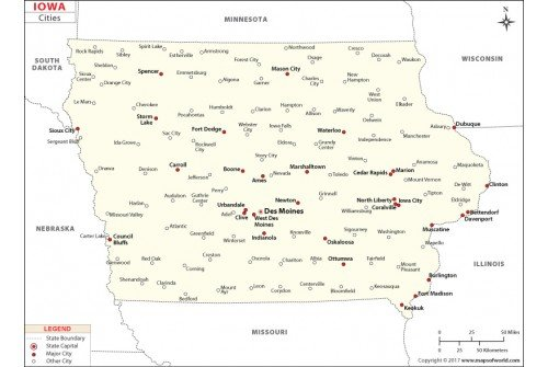 Iowa Cities Map