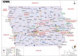 Iowa Map - Digital File