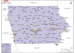 Iowa Road Map - Digital File