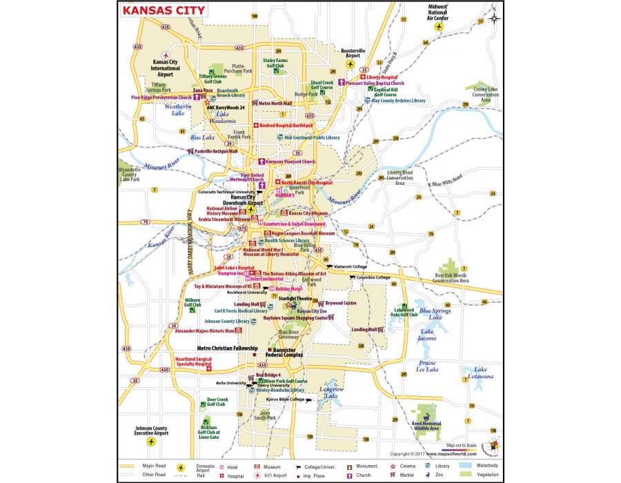 Buy Kansas City Map