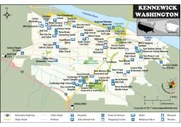 Kennewick City Map, Washington