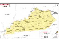 Kentucky Cities Map - Digital File