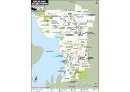 Kirkland Map, Washington