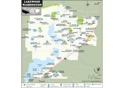 Lakewood Map, Washington