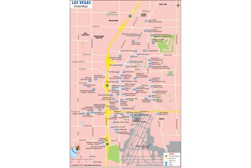 Map of Las Vegas Strip Hotels