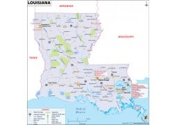Louisiana Map - Digital File