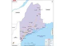 Maine Map Map of Maine ME USA